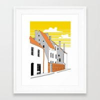 medieval Framed Art Prints featuring Medieval houses by LaDa