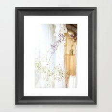 Flower and dresses Framed Art Print