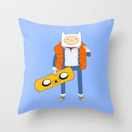 Marty McFinn & Jake the Hoverboard Throw Pillow