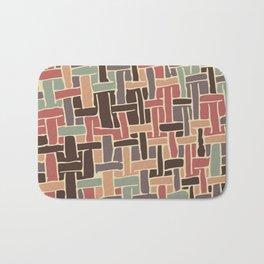 Vintage weave pattern Bath Mat
