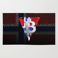 norway Area & Throw Rugs featuring bitcoin Norway by seb mcnulty