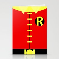 teen titans Stationery Cards featuring Minimalist Robin - Titans by Sterling Arts & Design