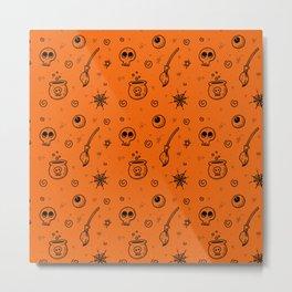 Halloween symbols seamless pattern Metal Print