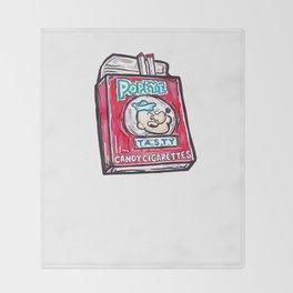 Popeye Smokes  Throw Blanket