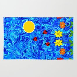 Blue Sky Summers Day Rug