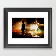 Child within Framed Art Print