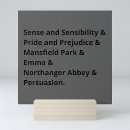 Jane Austen's Novels I Mini Art Print