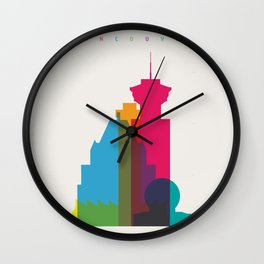 Shapes of Vancouver. Accurate to scale. Wall Clock