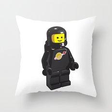Vintage Lego Black Spaceman Minifig Throw Pillow