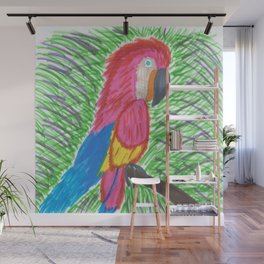 Pink Bird of Paradise Wall Mural