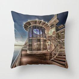 On the Cruise Ship Going to Alaska Throw Pillow