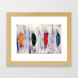 Four Feathers Framed Art Print