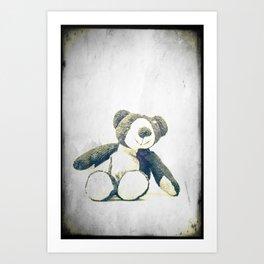sitting teddy bear... Art Print