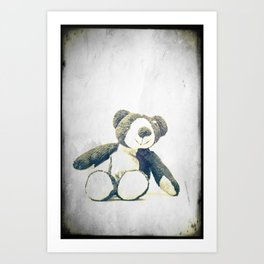 sitting teddy bear... Art Print
