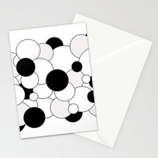 Bubbles - black, gray and white Stationery Cards