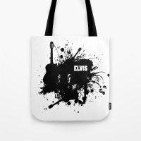 elvis Tote Bags featuring ELVIS by Ryan Anderson