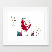 monroe Framed Art Prints featuring MONROE by Bianca Lopomo