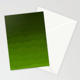 Dark Rich Forest Green Ombre Stationery Cards
