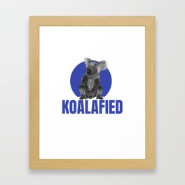 Highly Koalafied Electrician Funny product Framed Art Print