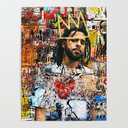 J.Cole Portrait Artwork Poster