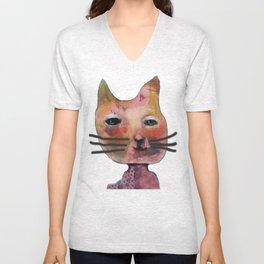Smelly cat Unisex V-Neck