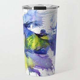 Watercolor and Ink Horse Travel Mug