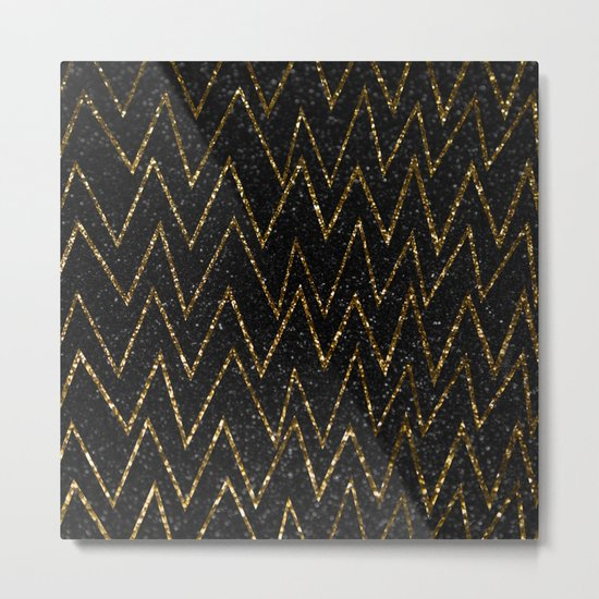 Elegant gold chevron #2 Metal Print