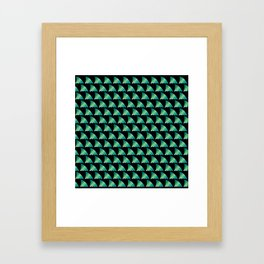 Green shark fin pattern Framed Art Print