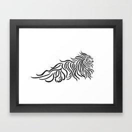 Komondor Tribal Framed Art Print