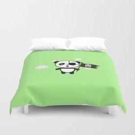 Panda Pirate with Flag T-Shirt for all Ages Da19o Duvet Cover