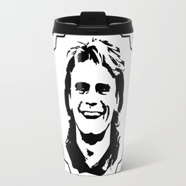 """MacGyver said: """"'Every action has a reaction'...you've got to believe that."""" Travel Mug"""