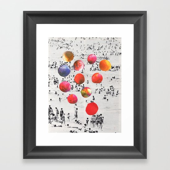 BEACH BALLS Framed Art Print