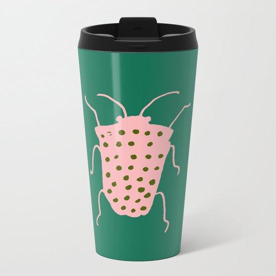 Beetle green Metal Travel Mug