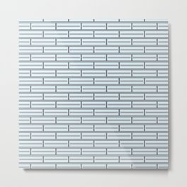 Light Blue Bricks on a Grey Background Metal Print