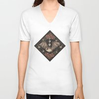 bat V-neck T-shirts featuring Bat  by Jessica Roux