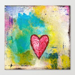 A Simple Heart Canvas Print