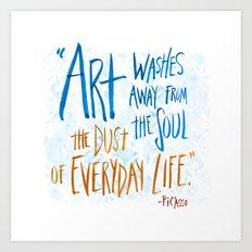 Picasso Quote Art Print