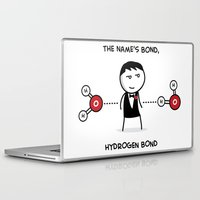 james bond Laptop & iPad Skins featuring Hydrogen Bond by Victims of Circumsolar