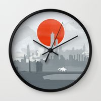 the legend of korra Wall Clocks featuring Avatar The Legend of Korra Poster by Fabio Castro