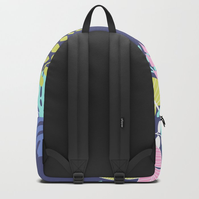 Bold Pastel Jungle Floral Backpack