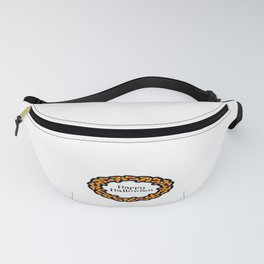 Happy Halloween Candy Corn Wreath Fanny Pack