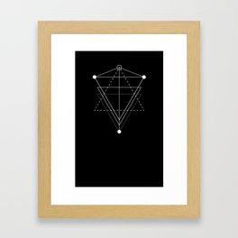 Triangle Planets Black Framed Art Print
