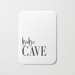 Babe Cave Vinyl Wall Decal, Baby Nursery Wall Decor, Typography Wall Sticker, Removable Wallpaper, G Bath Mat