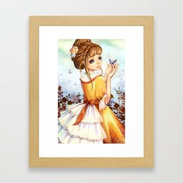 Summer-girl Framed Art Print