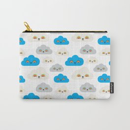 Rainbow Power Clouds Carry-All Pouch