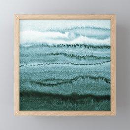 WITHIN THE TIDES - OCEAN TEAL Framed Mini Art Print