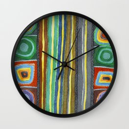 Symmetrical Bordered Stripes Wall Clock