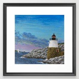 Newport Harbor Lighthouse Framed Art Print
