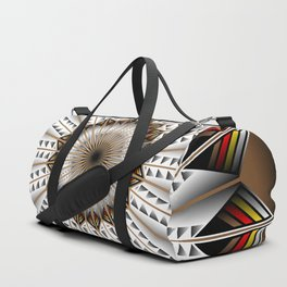 Feather Design Duffle Bag