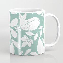 Minty Fox Pattern Coffee Mug
